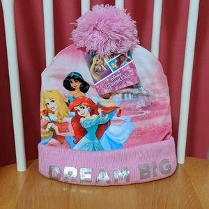 Kids Disney Princess Matching Hat & Gloves NWT